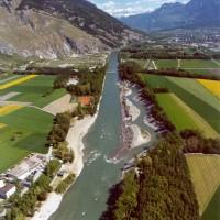 Aufweitung Chur/Felsberg nach der Fertigstellung 1996 (Quelle: Tiefbauamt Graubünden)