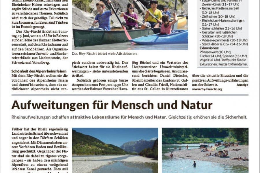 Rhy-Fäscht und Rheinaufweitungen in der LieWo
