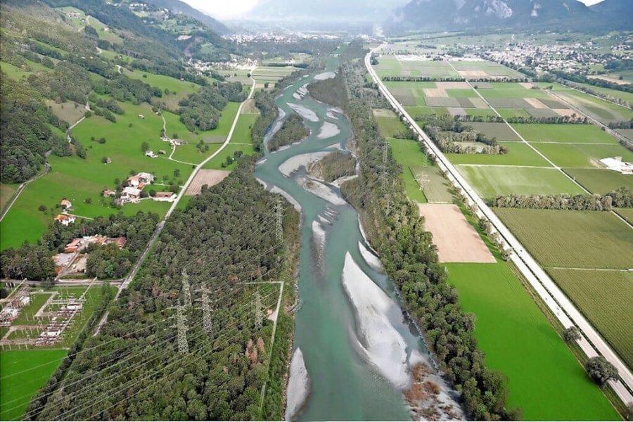 Maienfeld/Bad Ragaz: Bis zu 250 Meter Breite für den Rhein