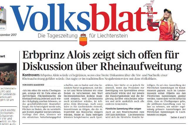 Erbprinz offen für Diskussion über Rheinaufweitungen
